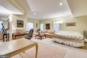 Lower level recreation room - 5800 MIDHILL ST, BETHESDA