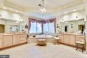 Master bath with corner soaking tub - 5800 MIDHILL ST, BETHESDA