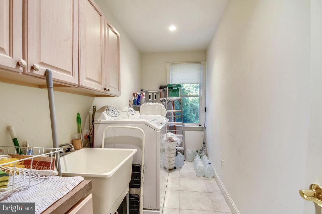 Laundry room off kitchen - 5800 MIDHILL ST, BETHESDA