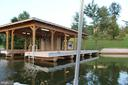 Two slips and decking with sandy beach - 6321 STUBBS COVE LN, SPOTSYLVANIA
