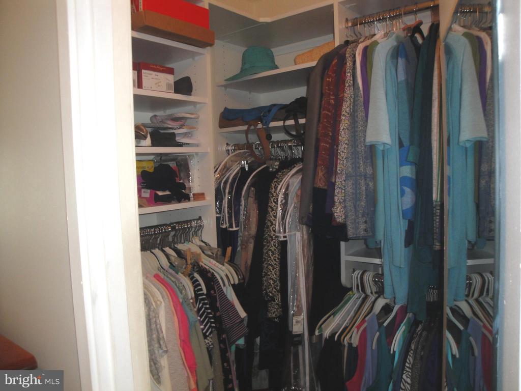 Master Bedroom's Walk In Closet w/Shelving - 8380 GREENSBORO DR #721, MCLEAN