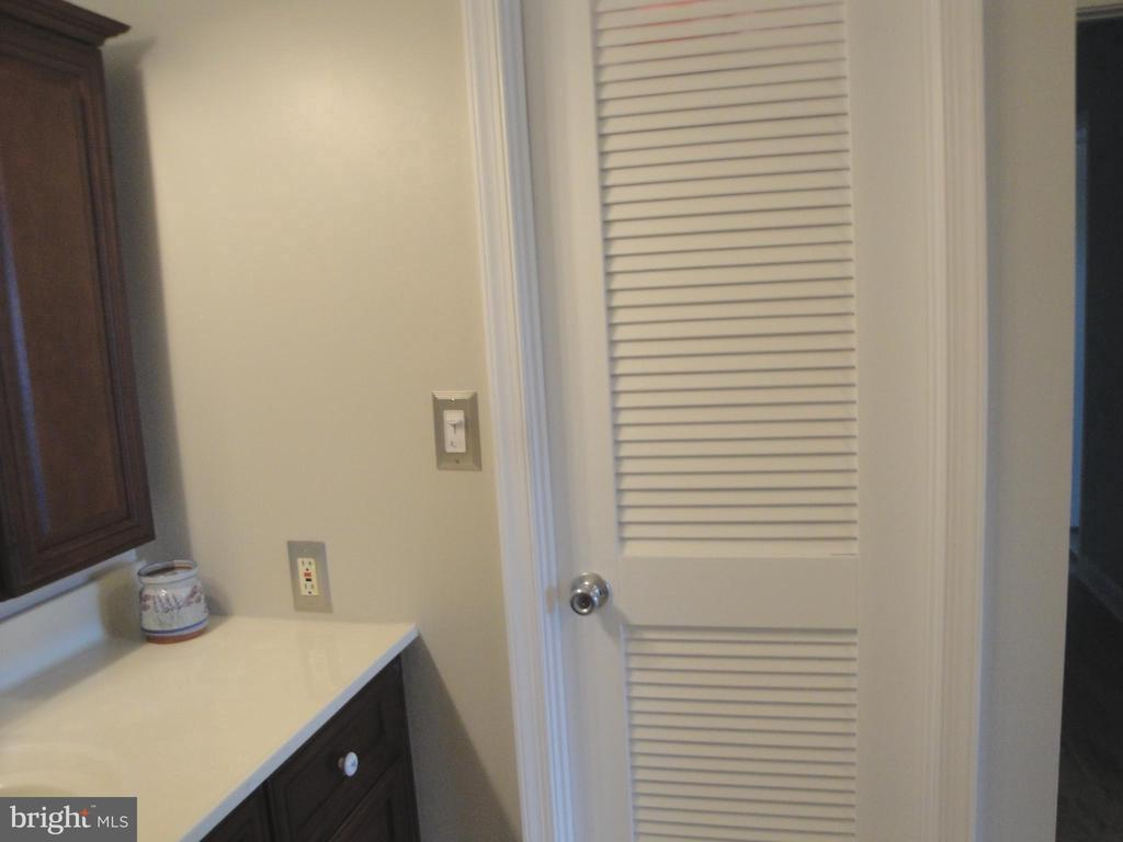 Bathroom Vanity w/louvered Closet Door - 8380 GREENSBORO DR #721, MCLEAN