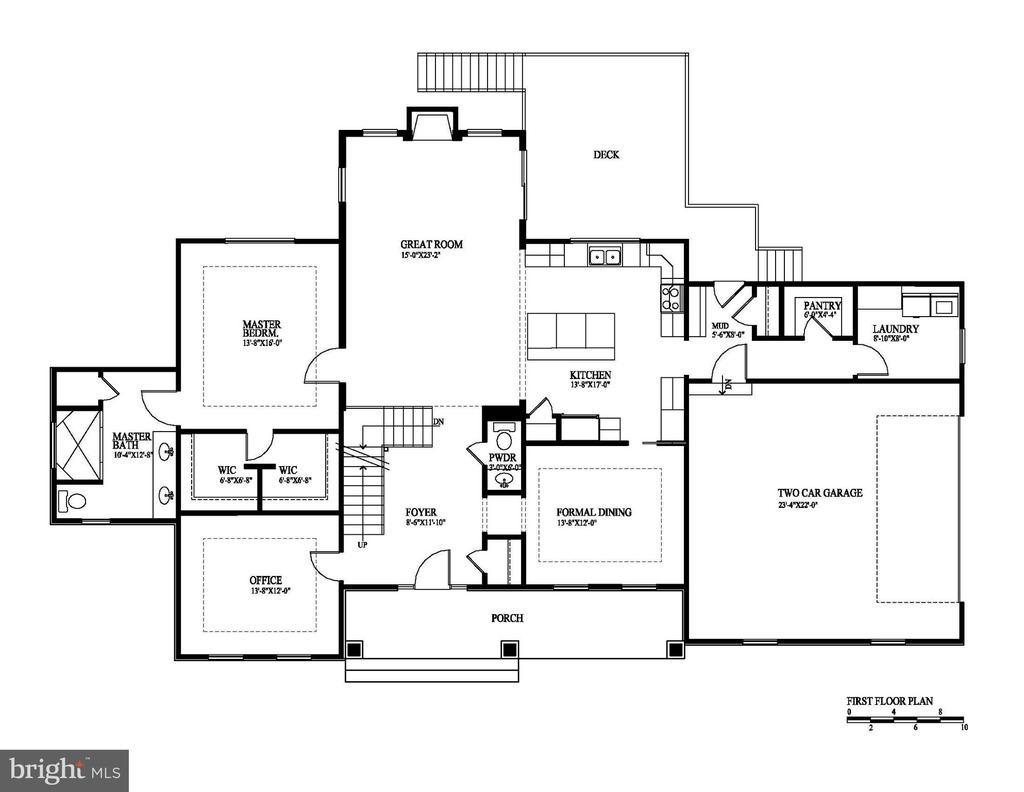 Main level floor plan - 12329 PURCELL RD, MANASSAS