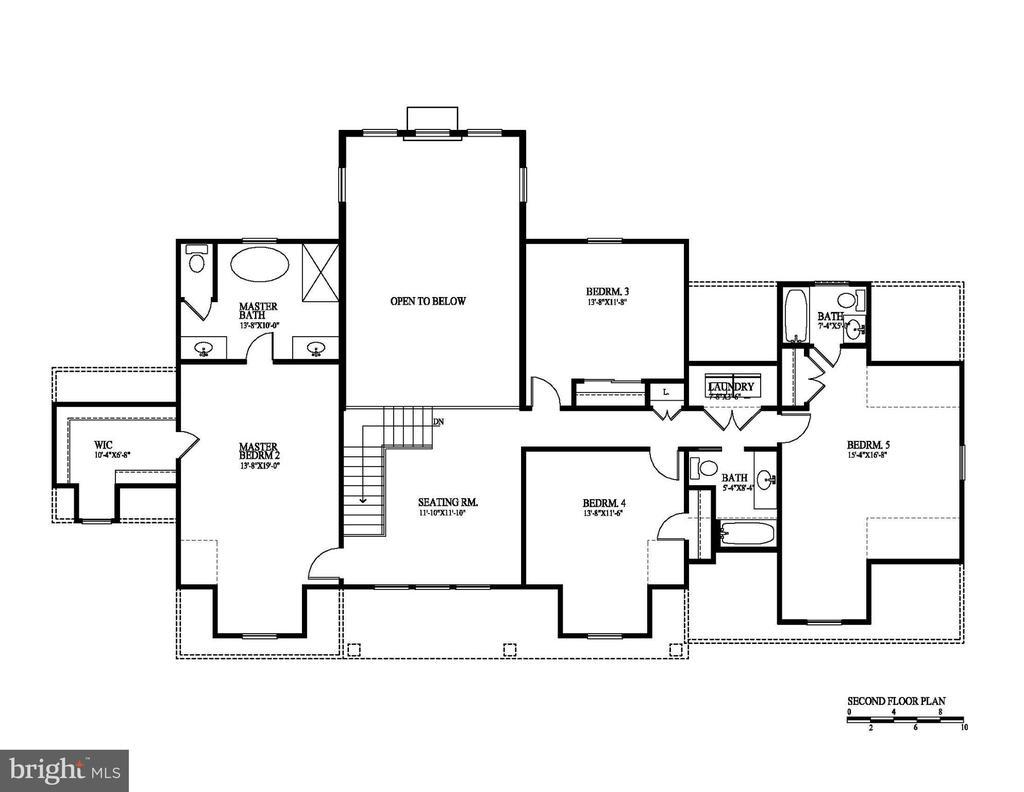 Second level floor plan - 12329 PURCELL RD, MANASSAS