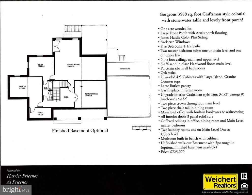 Walk-out basement with optional finished areas - 12329 PURCELL RD, MANASSAS