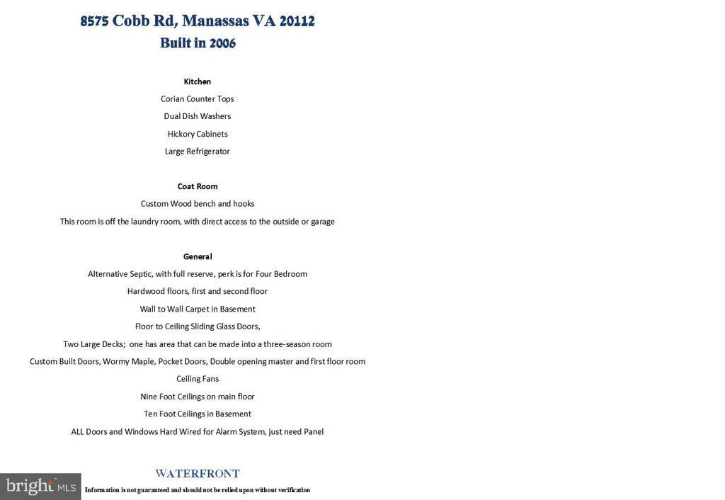 - 8575 COBB RD, MANASSAS