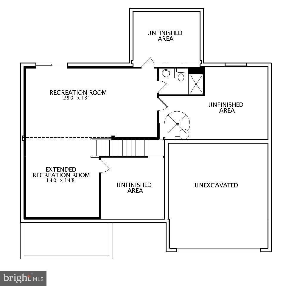 Lower Level Floor Plan - 23 IRON MASTER DR, STAFFORD