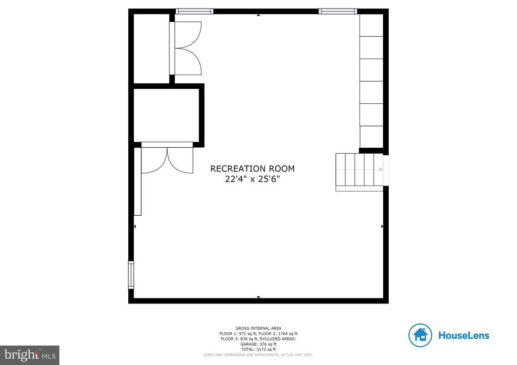 Lower level floor plan. - 9114 MURDOCK RD, FAIRFAX