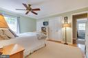 Master bedroom with 2 closets AND a walk-in! - 9114 MURDOCK RD, FAIRFAX