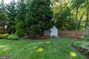 Fully fenced and shed conveys. - 9114 MURDOCK RD, FAIRFAX