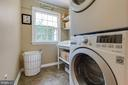 Convenient main level laundry. W/D new 2017. - 9114 MURDOCK RD, FAIRFAX