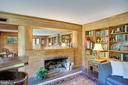 Living Room Fireplace - 1201 KEY DR, ALEXANDRIA
