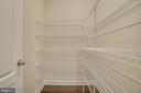 Large Walk-in Pantry with Shelves off Family Foyer - 23 IRON MASTER DR, STAFFORD
