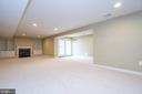 Lower level rec room - 26112 TALAMORE DR, CHANTILLY