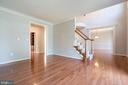 Light and bright formal living room - 26112 TALAMORE DR, CHANTILLY