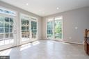 Breakfast room with walls of windows - 26112 TALAMORE DR, CHANTILLY