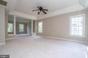 Master suite with beautiful tray ceiling - 26112 TALAMORE DR, CHANTILLY