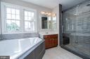 Gorgeous upgraded shower and lighting - 26112 TALAMORE DR, CHANTILLY