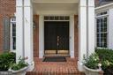 Front porch with covered portico - 26112 TALAMORE DR, CHANTILLY