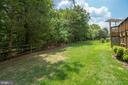 Fenced in yard - 26112 TALAMORE DR, CHANTILLY