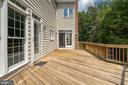 Spacious deck - 26112 TALAMORE DR, CHANTILLY