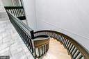 architectural staircase to lower level - 98 POINT SOMERSET LN, SEVERNA PARK