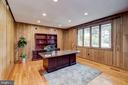 Main level office w/rich wood floors and paneling - 98 POINT SOMERSET LN, SEVERNA PARK