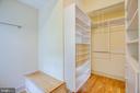 Master BR large closet - 610 LEWIS ST, FREDERICKSBURG