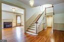 Front stairway into Living room - 610 LEWIS ST, FREDERICKSBURG