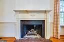Gas fireplace in dining room - 610 LEWIS ST, FREDERICKSBURG