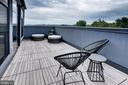 Large private deck stretching full lenght of condo - 1345 K ST SE #PH2, WASHINGTON