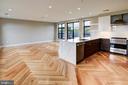 Custom herringbone hickory hardwood floors - 1345 K ST SE #PH2, WASHINGTON