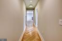 Herringbone hickory hardwood floors throughout - 1345 K ST SE #PH2, WASHINGTON