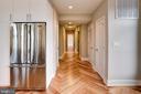 View from kitchen/living into hallway - 1345 K ST SE #PH2, WASHINGTON