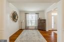 Living room with hardwood flooring. - 9 WOODLOT CT, STAFFORD