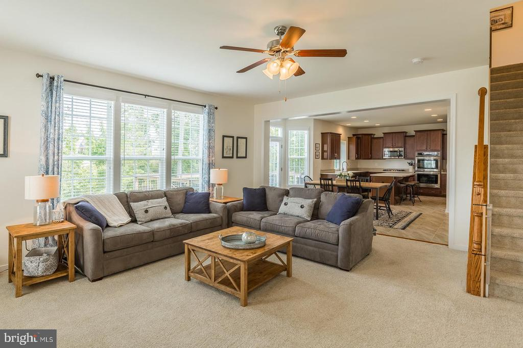 Family room with level 3 carpeting. - 9 WOODLOT CT, STAFFORD
