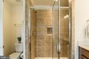 Master bathroom with glass shower enclosure. - 9 WOODLOT CT, STAFFORD