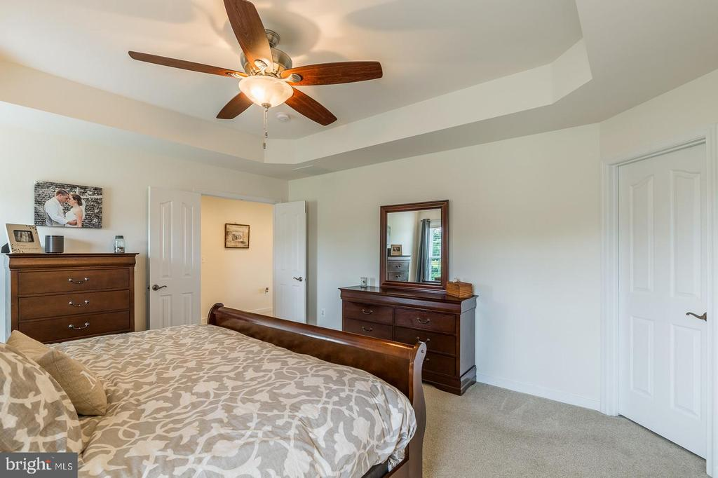 Master bedroom with walk-in closet (right). - 9 WOODLOT CT, STAFFORD