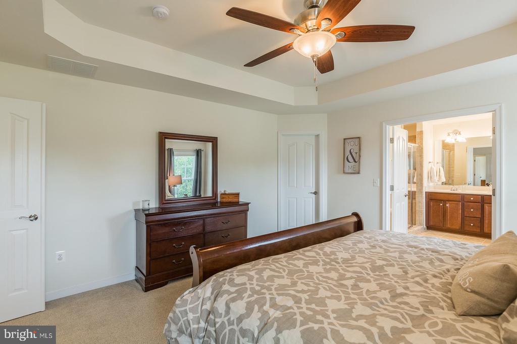 Master bedroom w/ level 3 carpeting. - 9 WOODLOT CT, STAFFORD