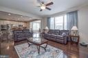 Spacious family room with large windows - 31 DAFFODIL LN, STAFFORD