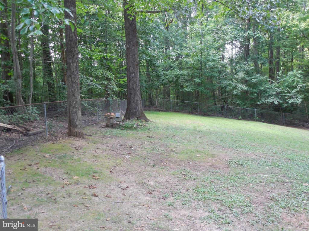 Fenced in Back Yard - 183 HEFLIN RD, STAFFORD