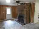 Family Room with wood Fireplace - 183 HEFLIN RD, STAFFORD