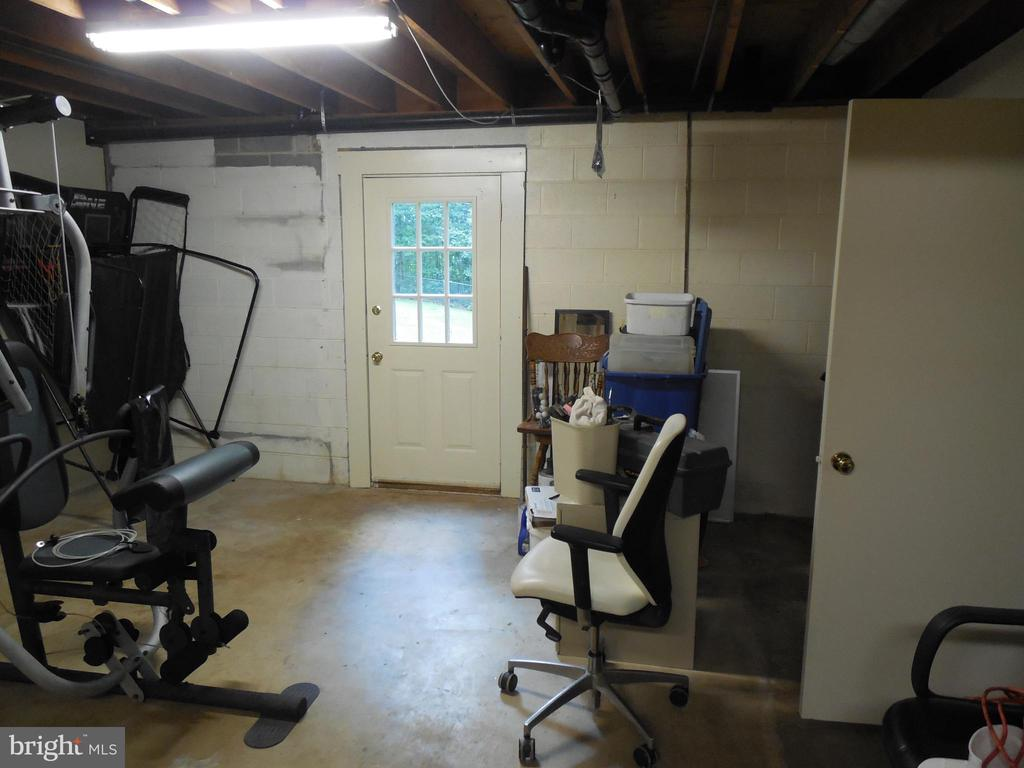 Door to Walk Out Level with Exercise Equipment - 183 HEFLIN RD, STAFFORD