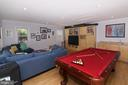 Great Room with Pool Table - 3534 MORNINGSIDE DR, FAIRFAX