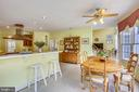 Breakfast room - 16813 HARBOUR TOWN DR, SILVER SPRING
