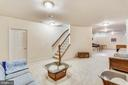 Finished lower level - 16813 HARBOUR TOWN DR, SILVER SPRING