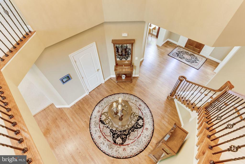 Panoramic view of foyer from upper hallf! - 3530 SAINT AUGUSTINE LN, OAKTON