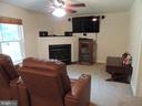Lower Level Family Room with Gas Fireplace - 12609 TOLL HOUSE RD, SPOTSYLVANIA