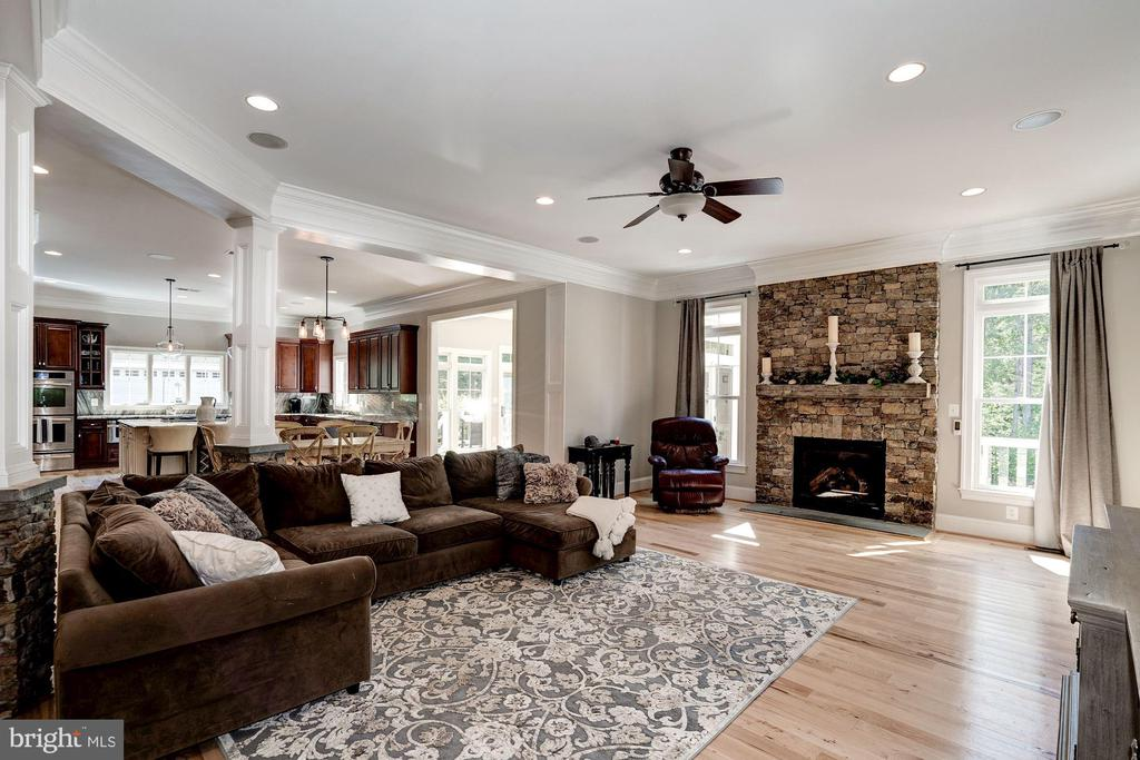 Family Room with gas fireplace - 11606 LAWTER LN, CLIFTON