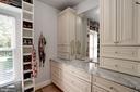 custom built in master closet - 11606 LAWTER LN, CLIFTON